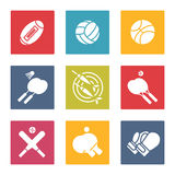 Colorful sport icons set Stock Photography