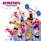 Colorful Sport Isometric Poster Stock Photo