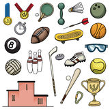 Colorful sport items Royalty Free Stock Photos