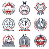 Colorful Sport Prizes Labels Set Royalty Free Stock Image