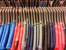 Colorful sport shirt hang on the clothesline. New sport shirt hang on the clothesline Royalty Free Stock Photo