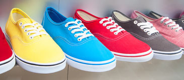 Colorful sport shoes Stock Photography