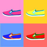Colorful sport slip-on set Stock Photography