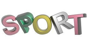 Colorful Sport. SPORT written in 3D capital letters and different colors Stock Photography