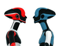 Colorful sportive robots Royalty Free Stock Image