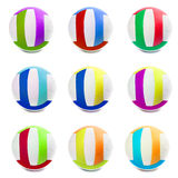 Colorful Sports Balls color in different countries Royalty Free Stock Images