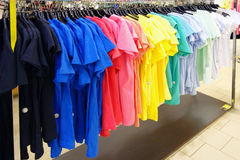 Colorful sports shirts Stock Image