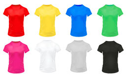 Colorful Sports Shirts Icon Set Royalty Free Stock Photography
