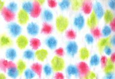 Colorful spoted pattern. Watercolor and paper. vector illustration