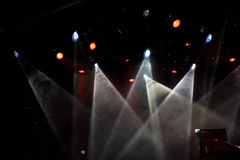 Colorful spotlights in theatre Royalty Free Stock Photos