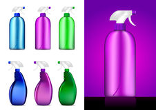 Colorful Spray bottles. Illustrations royalty free illustration