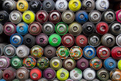 Colorful Spray Cans Royalty Free Stock Photos