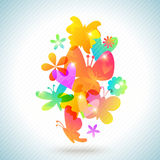 Colorful spring background design. illustration Royalty Free Stock Images