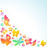 Colorful spring background design. Vector Royalty Free Stock Photo
