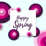 Colorful spring background with flowers in a flat style Stock Photography