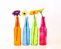 Colorful Spring Bottles Stock Images