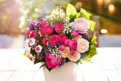 Colorful spring bouquet stock image