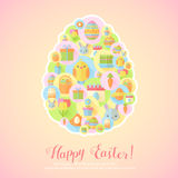Colorful spring Easter flat banners set Royalty Free Stock Image
