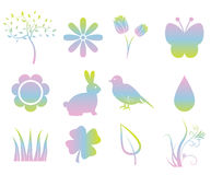 Colorful Spring Elements Stock Photography