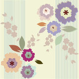 Colorful spring floral background Stock Photos