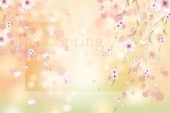 Watercolor flower frame. stock illustration