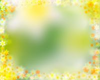 Colorful spring floral border Royalty Free Stock Images