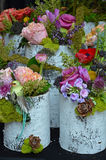 Colorful Spring Flower Arrangements Royalty Free Stock Photography