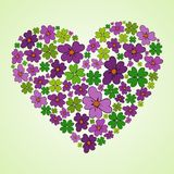 Spring heart icon Stock Photography
