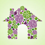 Spring house icon Royalty Free Stock Photos