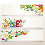 Spring flower banner Stock Photos