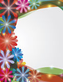 Colorful Spring Flowers Border Illustration Royalty Free Stock Image