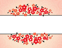 Colorful spring flowers border Royalty Free Stock Photos