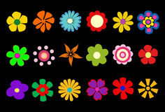 Colorful spring flowers. Vector illustration Royalty Free Stock Photography