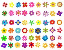 Colorful spring flowers vector illustration Royalty Free Stock Photo