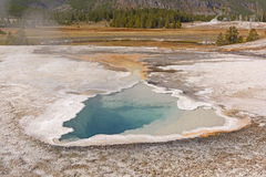Colorful Spring in a Geyser Basin Royalty Free Stock Images