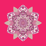Colorful Spring hand-drawn patterns round ornament Royalty Free Stock Images