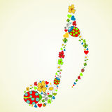 Colorful music texture background Stock Photos