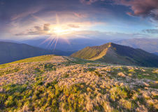 Colorful spring landscape in the mountains Royalty Free Stock Photography