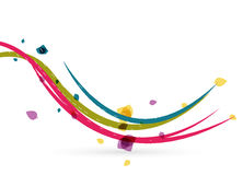 Colorful spring lines conceptual nature design Stock Photo