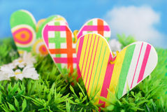 Colorful spring love Stock Images