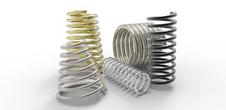 Colorful spring metal royalty free stock image