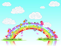 Colorful spring rainbow Royalty Free Stock Photos