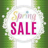 Colorful spring sale background. For prints, leaflets, flayers, websites, emails, posters and price tags Stock Photo