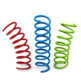 Colorful springs, 3d Stock Photos