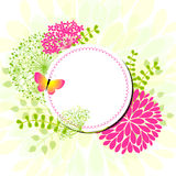 Colorful Springtime flowers Greeting Card Royalty Free Stock Images