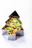 Colorful sprinkle christmas Stock Photo