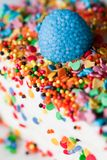 Colorful Sprinkles. On a cake Royalty Free Stock Image