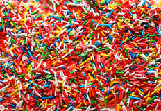 Colorful sprinkles background, close up Royalty Free Stock Photo