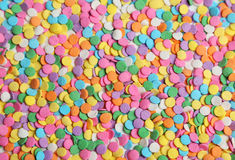 Colorful sprinkles background, close up Stock Photography