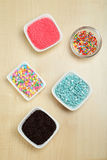 Colorful sprinkles Stock Image